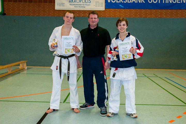 Johannes Schmitz, Sven Grote und Christopher Steffen, Northeimer Stadtpokal 2012