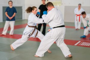 Stefanie Opola, Karate Kumite-Training