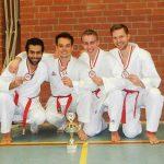 Zanshin Karate Team 2015: Mohamed ElBrolosy, Jannik Wambold, Sven Feuer und Malte Freidrich