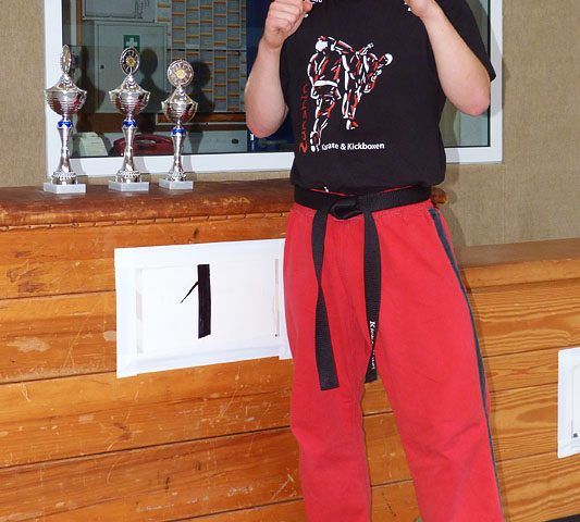 Johannes Schmitz, Deutscher Meister im Kickboxen (WIASKA) 2012