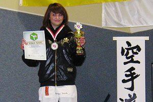 Kristina Denk Siegerehrung Niedersächsische Landesmeisterschaften 2011