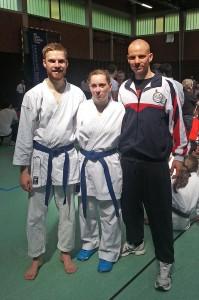 Malte Friedrich, Stefanie Opola und Johannes Schmitz auf der DHM 2013