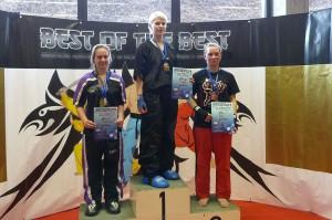 Stefanie Opola wird 3. im Leichtkontakt (-63 kg) bei der DM 2013 des Verbandes ISKA