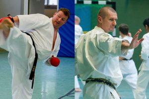 Sven Grote und Steve Mosmondor, Karateverein Zanshin Göttingen