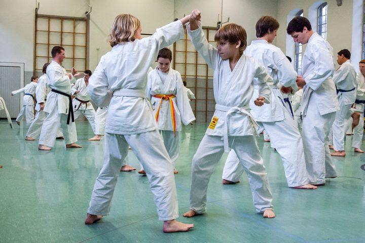 Kindertraining, Karateverein Zanshin Göttingen