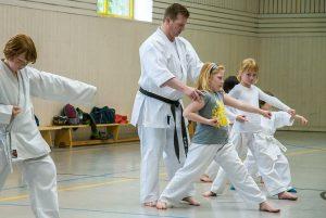 Sven Grote, 3. Dan, Kindertraining, Karateverein Zanshin Göttingen