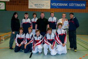 Die Mannschaft von Zanshin Göttingen auf dem Northeimer Stadtpokal 2012