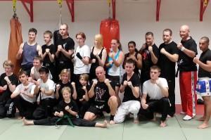 Teilnehmer des Kickboxlehrgangs des WKC am 22.6.2013