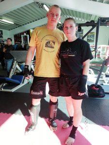 Johannes Schmitz und Stefanie Opola, WKC Trainingslager mit Sparringsturnier 2014