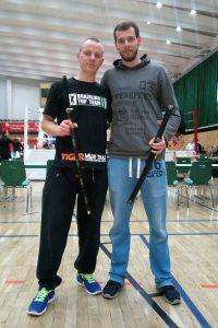 Johannes Schmitz ist Deutscher Meister im Kickboxen (WKU), Christoph Schierholt Vizemeister.