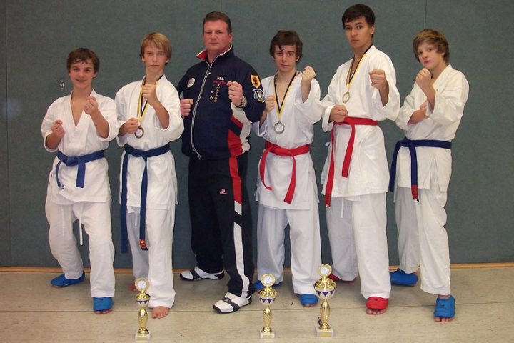 Starter des Zanshin-Kaders beim Saino Cup 2011: Christopher Steffen, Lukas Erdmann, Sven Grote, Hendrik Geiling, Orest Oribko, Paul Bestian